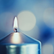 Blue candle 3